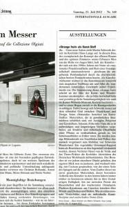 Neue Zürcher Zeitung 21/07/2012