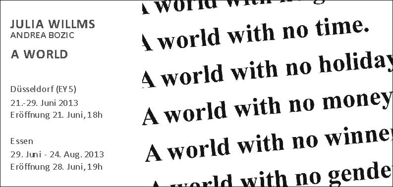 Julia Willms - A World